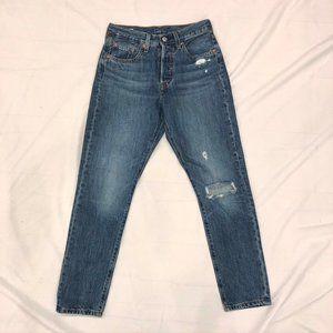 Levi's 501 skinny medium wash